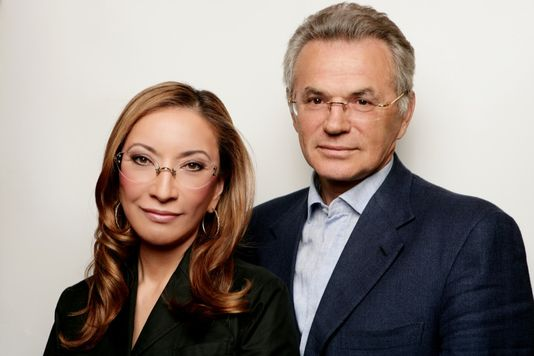 Victor Khrapunov and his wife