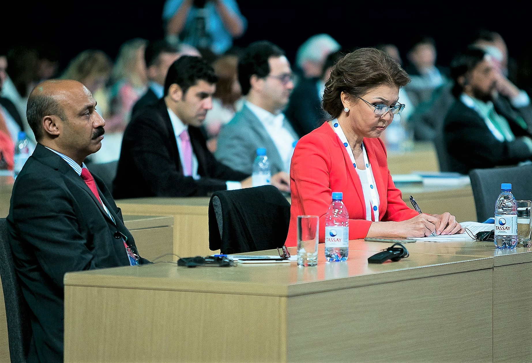 Dr. Dariga Nazarbayeva, eldest daughter of H.E. President Nursultan Nazarbayev and Chairperson of the Eurasian Media Forum, and Dr Shahid Qureshi, Editor in Chief of The London Post and Media Group in Astana Kazakhstan 22 June 2017. (Photo by Eurasian Media Forum 2017)